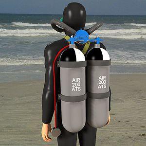 Aqua-lung - Classic twin-hose Cousteau-type aqualung
