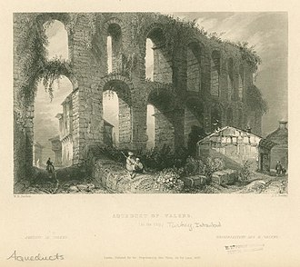 Valens Aqueduct - Valens Aqueduct in the 19th century