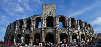 Arles - Arles Amphitheatre, a Roman arena.