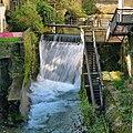 Arbois, saut de la Cuisance au barrage de la centrale électrique.jpg