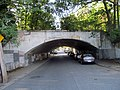 Arch bridge over Temple Street, West Roxbury, September 2016.JPG