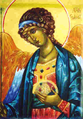 Archangel Gabriel Icon wearing sacred blue.png