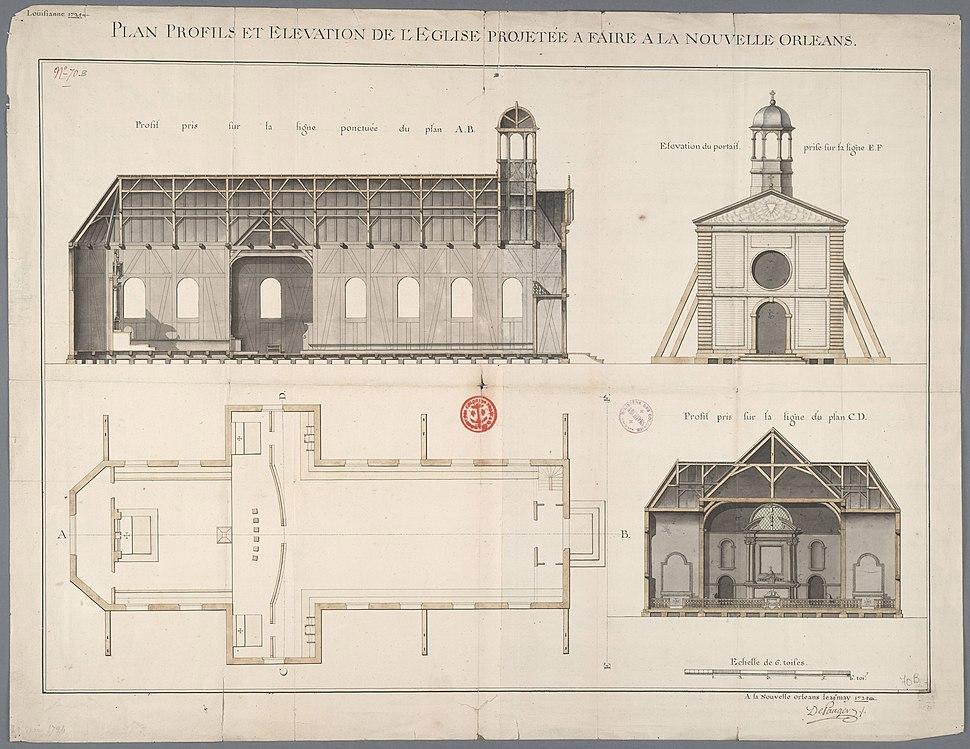 Archives nationales d'outre-mer - Louisiane - Adrien de Pauger - 1724 - 001