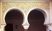 Arcos de herradura en el Monasterio de las Claras, Tordesillas (de estilo mudéjar)