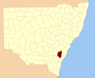 Argyle County Cadastral in New South Wales, Australia