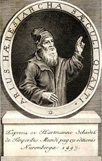Arius priest in Alexandria; founder of Arianism