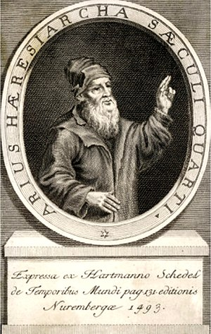 Arius - Arius arguing for the supremacy of God the Father, and that the Son had a beginning as a true Firstborn