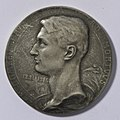Arm. Domken Pro Patria Ultro Mortuus 1891-1916, medal by Jacques Marin (1877-1950), Belgium, 1916, Coins and Medals Department of the Royal Library of Belgium, 2Lef 49 - 22 (recto).jpg