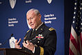 Army Gen. Martin E. Dempsey, chairman of the Joint Chiefs of Staff, discusses the civil-military divide and the future of the all-volunteer force during a conference hosted by the Center for a New American Secu 141120-D-KC128-095c.jpg