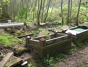 Arnos Vale Cemetery - Broken graves awaiting restoration