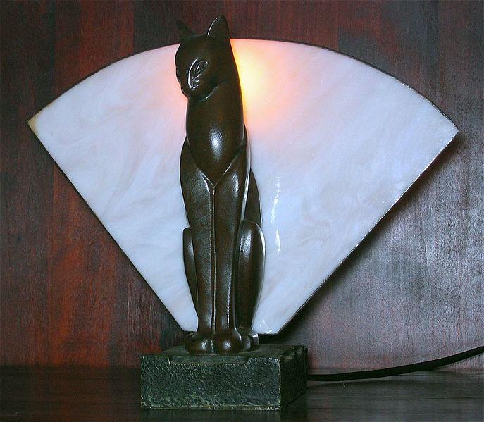 File:Art deco cat lamp.jpg