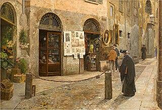 Arturo Ferrari Italian painter