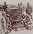 Arthur Duray éphémère recordman du monde à la Coupe de Rotschild en 1904, à 142.85kmh sur Gobron Brillié Paris-Madrid, à Nice (2ème, derrière Louis Rigolly).jpg