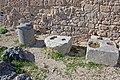 Artifacts in southwestern acropolis of Lindos 2010.jpg