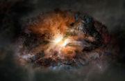 Artist's impression of the galaxy W2246-0526