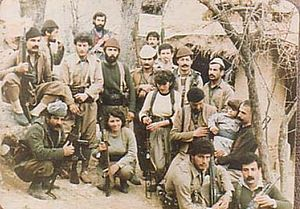 Assyrian Democratic Movement - Zowaa fighters in northern Iraq in the 1980s.