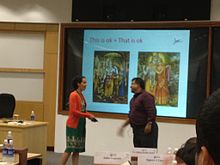 Soulaima Gourani at class, at The Indian School of Business