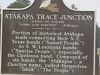 Atakapa - Plaque for Attakapa Trace Junction