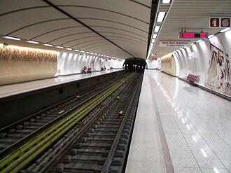 Line 2 (Athens Metro) - Acropolis station of Athens Metro system (Line 2).