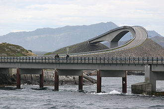 Atlantic Ocean Road - The Hulvågen Bridges with the Storseisundet Bridge in the background