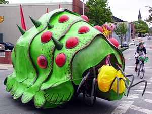 American Visionary Art Museum - The Attack of the Sculpturians, was a human-powered vehicle, participating in the American Visionary Art Museum's Kinetic Sculpture Race, Baltimore, Maryland.