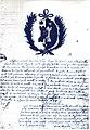 Attestation blason van Dievoet, Bruxelles 1698.jpg