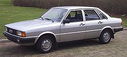 1978 Audi 80 L — version with single headlamps, common in Europe