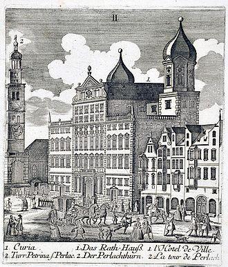 Augsburg Town Hall - Augsburg Rathaus, c. 1818.