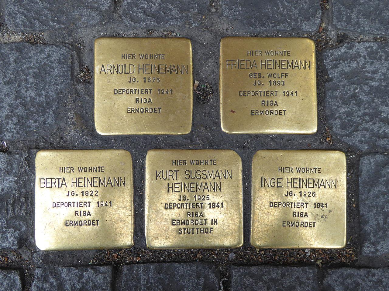 Stolperstein für Berta Heinemann (Augustinerstraße 4)
