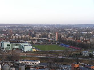 Aukštaitija Stadium - Image: Aukstaitijos stadionas Is Panevezio boksto