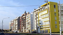 Multifamily buildings on Cesar Vallejo avenue