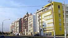 Multifamily buildings on Cesar Vallejo avenue