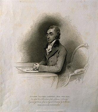 Aylmer Bourke Lambert - Aylmer Bourke Lambert, 1810 engraving