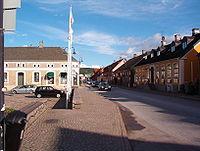 Båstad, Sweden, a street adjacent to market square.jpg