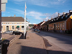 Båstad - A street adjacent to the central square
