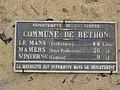 Béthon (Sarthe) plaque de cocher Commune de Béthon.jpg