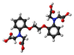 Ball-and-stick model of the BAPTA molecule