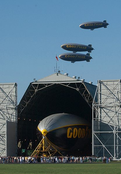 "Sept. 5, 2002 ""Spirit of America"" with other 3 Goodyear blimps"