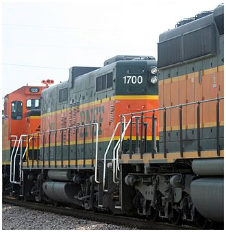 EMD GP9 - Image: BNSF 1700 EMD GP9B