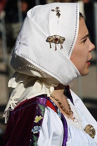 Bultei - Traditional woman costume.