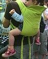 Baby sling in green 2.jpg
