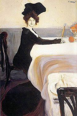 Ужин (1902), Лев Бакст.