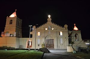 Balangiga, Eastern Samar - Image: Balangiga Church at night