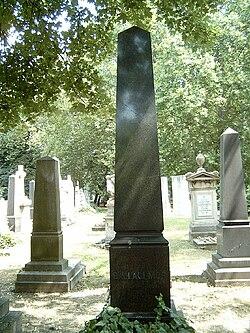 Ballagi Mór sírja Budapesten. Kerepesi temető: 34/1-1-10.