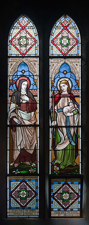 Seventh two-light window in the south aisle, d...