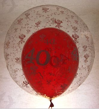 Ballonet - The air-filled red balloon acts as a simple ballonet inside the outer balloon, which is filled with lifting gas.