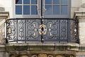 Balustrade du balcon au dessus de l'entrée, palais du parlement de Bretagne, Rennes, France.jpg