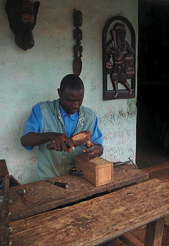 West Region (Cameroon) - Bamum artisan at work in Foumban