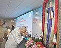 Banwarilal Purohit paying homage to Babasaheb Dr. B.R. Ambedkar, on his 127th birth anniversary, at the closing ceremony of the DefExpo India - 2018, at Thiruvidanthai, Kancheepuram district near Chennai.jpg