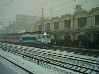 Baoding railway station - Old Baoding railway station platform